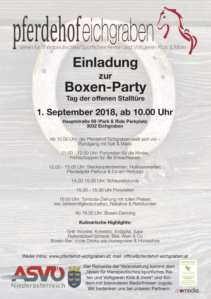 Boxen-Party - Pferdehof Eichgraben